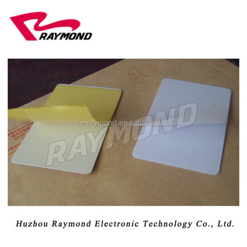 Adhesive Sticky Blank Cards CR80
