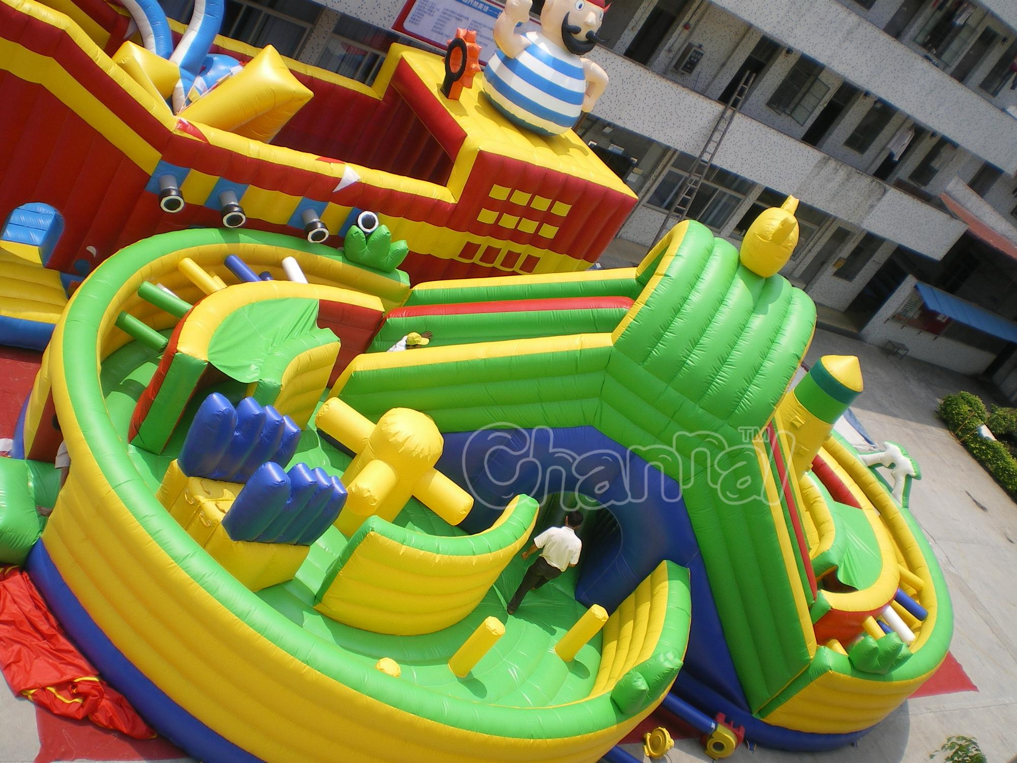 Special inflatable amusement park with slide bouncer obstacle course for kids