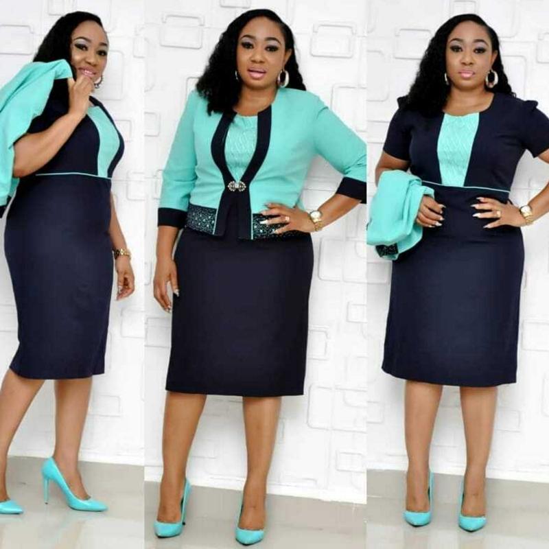 Office Formal Short Sleeve Women Dress