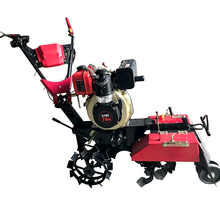 Gasoline/diesel engine mini tiller land cultivator with ditcher/tiller/seeder/earthing up soil cover