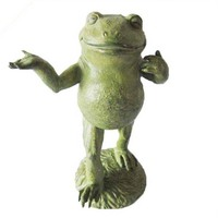 resin animal frog statue decorative gift