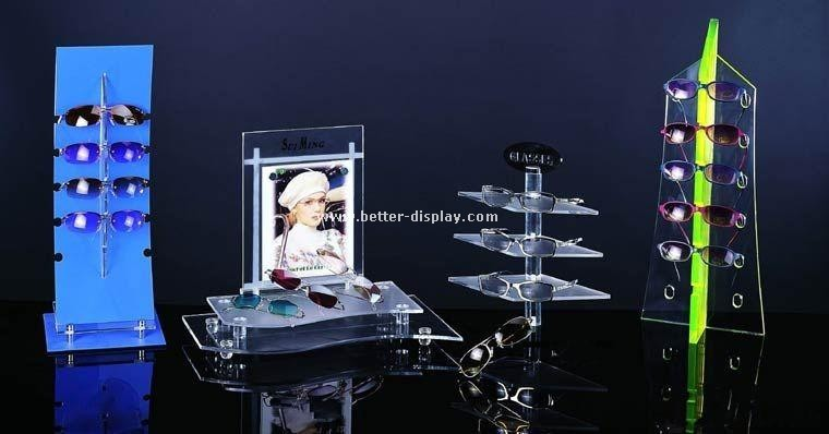 clear countertop acrylic sunglass display stand