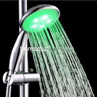 New Bathroom Shower 7 Colors LED Lights Temperature Change Shower Head Sprayer