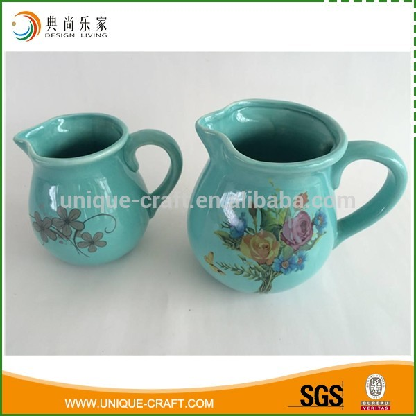 Blue Elegant Ceramic Water/Milk Jugs for Home Tableware