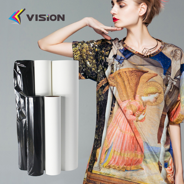 Low tacky sublimation dye printing paper roll for all kinds of sportswear