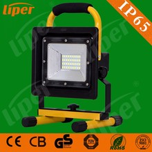 Liper Outdoor lighting portable rechargeable work light IP65 waterproof SMD 20W led flood light with CE CB RoHs 3 years warranty