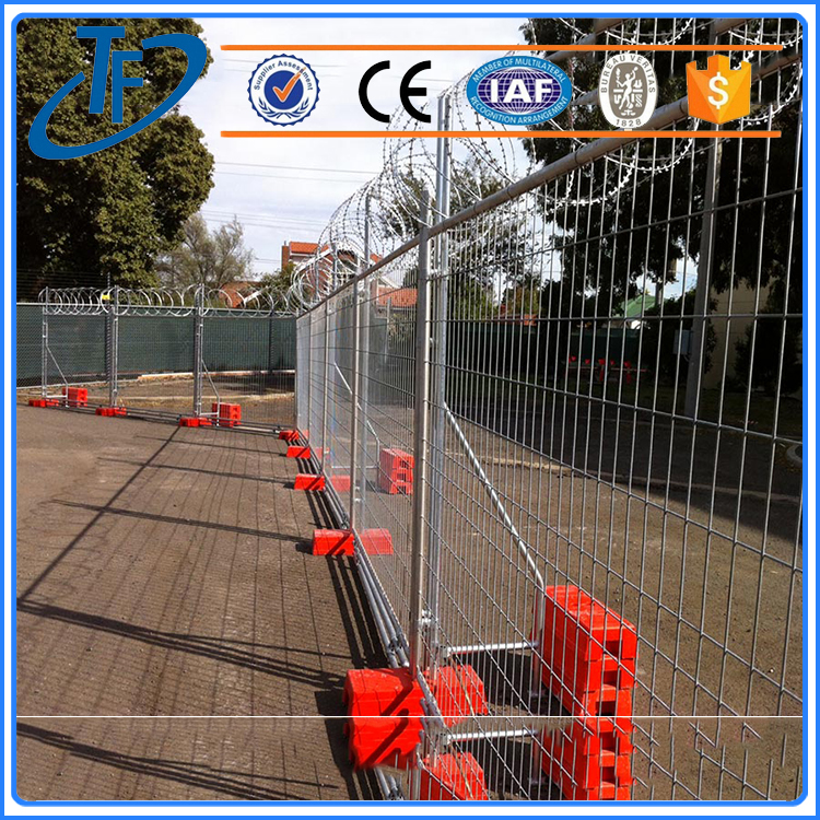Galvanized Welded temporary fence , Portable Safety Fence