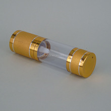 30ml airless pump cosmetic packaging bottle with gold lid for anointing oil