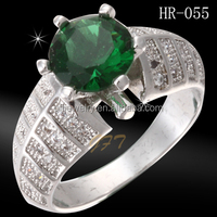 Micro Pave Setting Fashion Jewelry Green