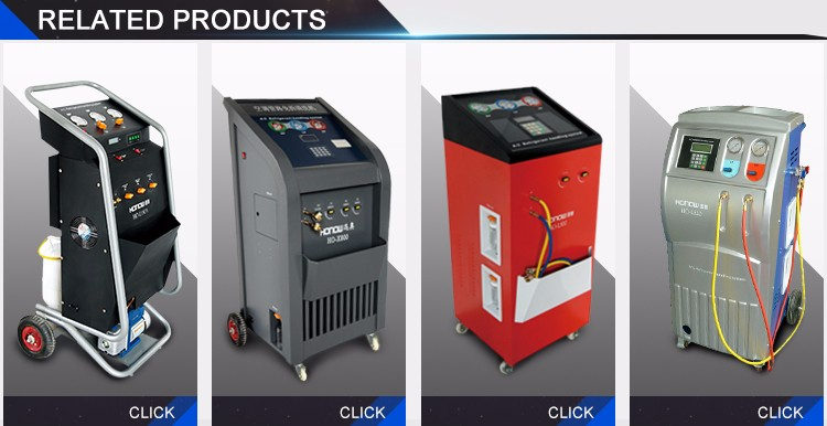 A/C refrigerant recovery and charging machine