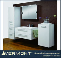 cost-saving white euro-style bathroom cabinet sets