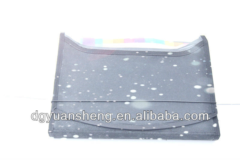 New style zipper file folder bag cheap types of plastic folders