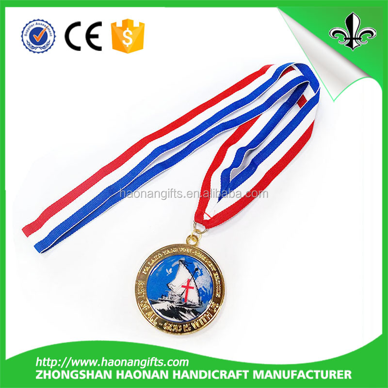 new products 2017 Free Design Custom Awards Medals Ribbon Grosgrain For Running Medals