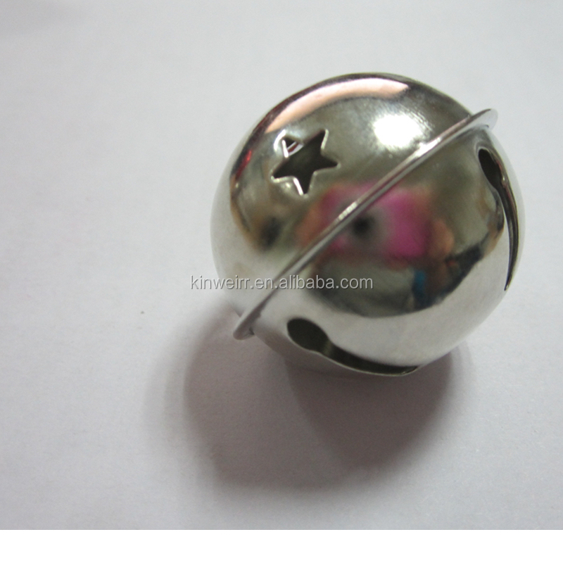 Metal Snowflake Jingle Bell Christmas Ornament For Wholesale