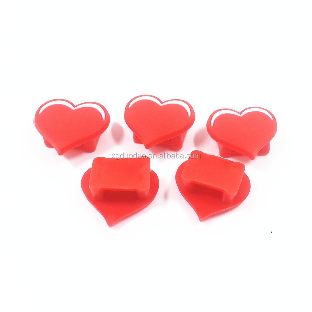 decorative heart shaped plastic shoe decoration shoelace charms for girls