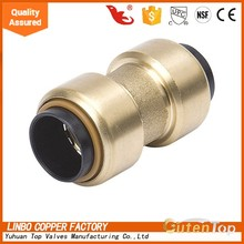 GutenTop Brass Material Push Fit Plumbing Fittings of Straight Connector Quick Connector LBA001 Used for CPVC pipe