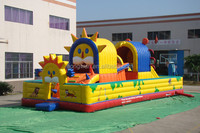 Commercial factory price inflatable fun cities China kids outdoor game