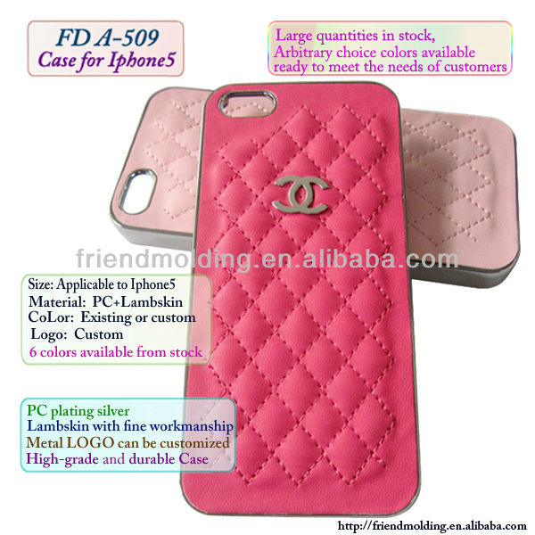 Lambskin cell phone cover for Iphone5/4/4S