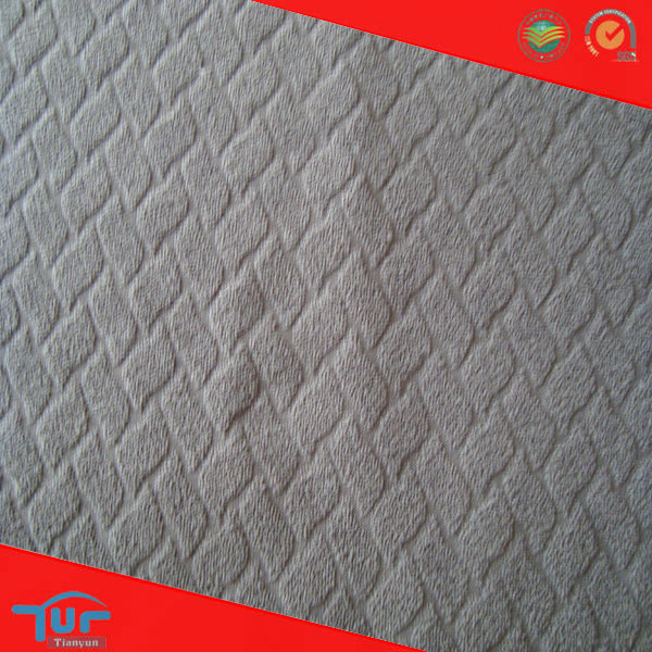 Polyester Brushed Fabric Knitted Jacquard Fabric For Sofa Cover Cloth