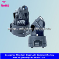 15 watts mini moving head led spot lights 9 gobo