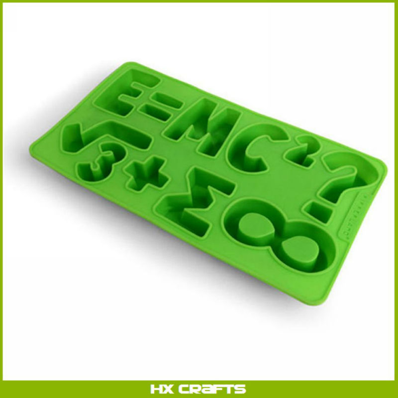 Letter shape Logo Soft Latex Ice Cube Tray