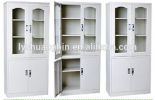 Cold-rolled Steel office furniture laboratory used glass swing door filing cupboard/metal dental storage cabinets for sale