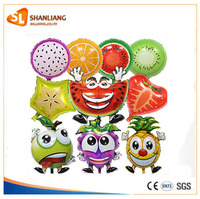 New Arrival Summer Cartoon Big Smile Fruit Watermelon Strewberry Apple Balloon Balloon