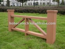 temporary wood plastic composite garden fence