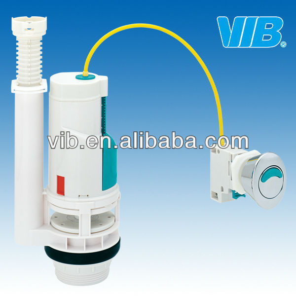 Flush valve for plumbing tank saving water toilet with dual push button
