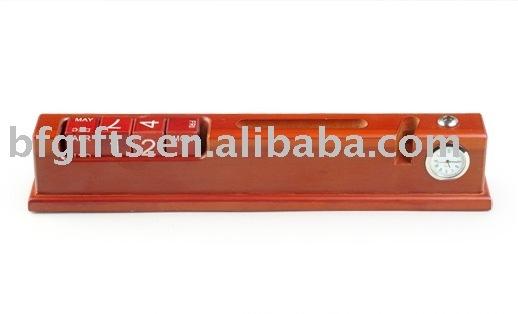 wooden calendar,office stationery set,business gift,pen holder,clock