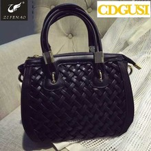 name Brand new 2015 fashion women handbag knitted desigual shoulder bags women PU leather bags messenger bags