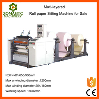 Roll Paper Multi-layered Slitting Machine for Sale
