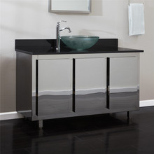 Stainless steel used modern bathroom vanity cabinets with low price
