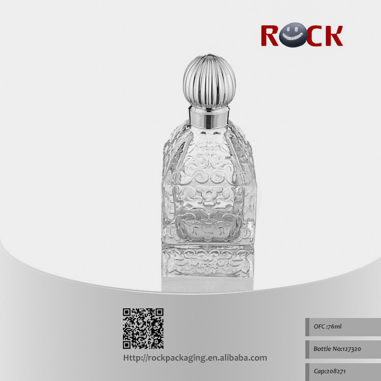 New design palace shape middle east glass perfume bottle
