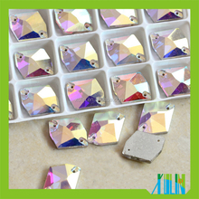 wholesale flower sew on crystal stones,cheap glass stone,garments accessory crystal stone