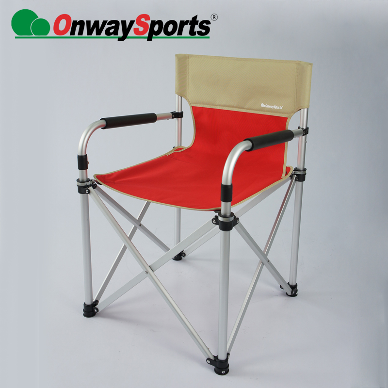 New Aluminum portable lightweight folding collapsible director chair with pocket bag