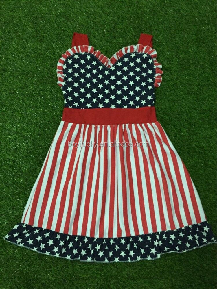 Baby Girl 4th Of July Red Stripe Sleeveless Baby Girl Summer Dress 4th Of July Toddler Girls Dress Long Maxi Chevron Dress