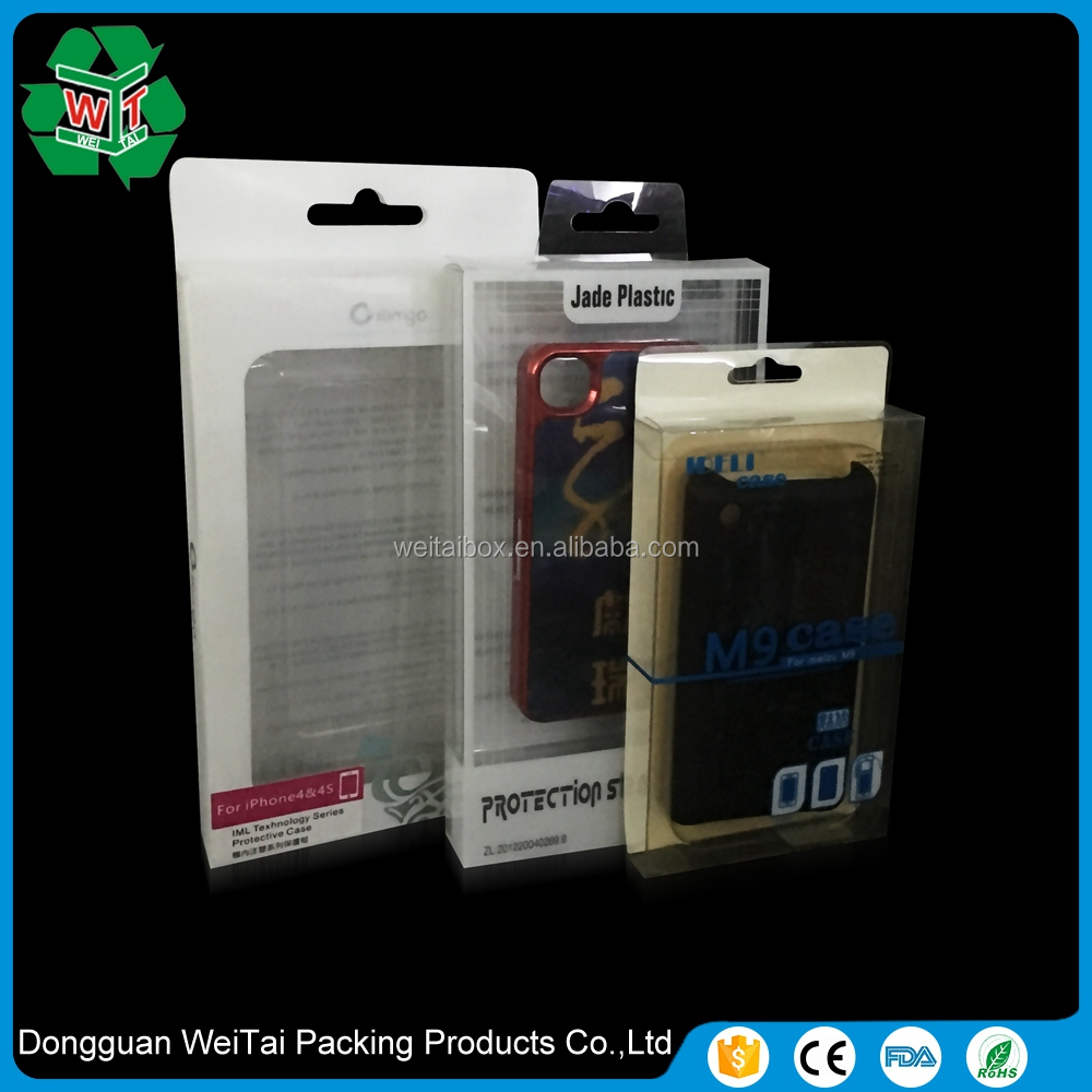 Plastic cell phone blister packaging