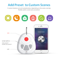 Z-wave 868.4mhz one key portable smart sos button for elderly emergency call