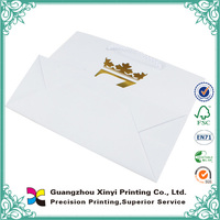 Customized white kraft paper bag with your logo