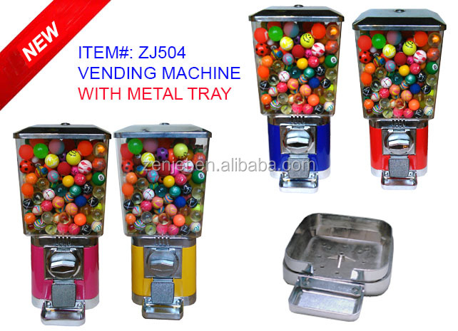 27mm bouncy balls vending machine ZJ504T(vending machine <strong>payment</strong> system)