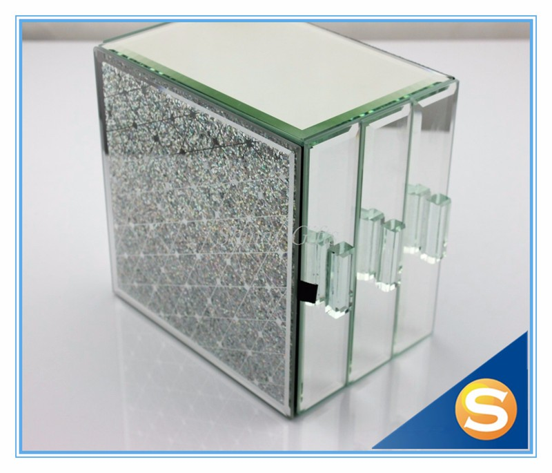 Mirrored Clear Wine Glass Packing Box with Draws Gift Box Package Collective Boxes for Jewelries
