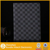 black grid pattern for ipad air wallet case,wallet case for ipad 5