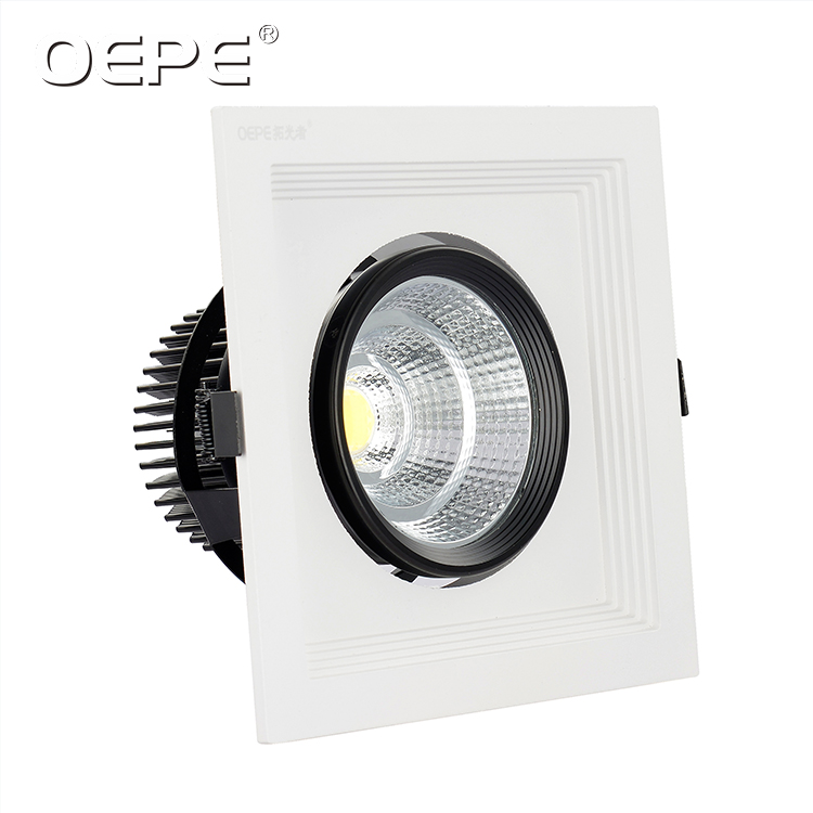 3*20w 3*25w Indoor Ceiling Recessed Suqare Led Downlight with 3 Moving Heads Grille Light
