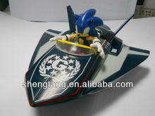 Spaceship with Sonic Figure