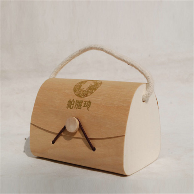 Customized Wooden Portable Display Birch Veneer Box Creative Delicate Softwood Jewelry Wooden Box