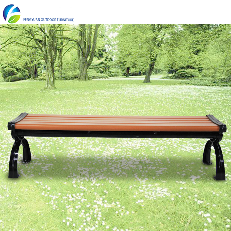 Cheap recycling wood plastic composite park bench wood slats for cast iron bench
