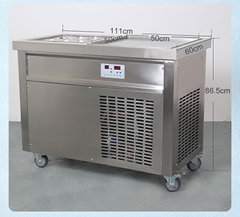 Stainless steel thailand ice cream machine fry pan machine for sale