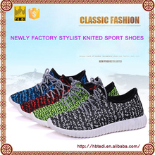 CHINA TEDI factory knitted upper rubber soles sport shoes for men yeezy sneakers