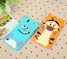 Cute silicone case for Sony Xperia C4 , tiger cover for Xperia C4, sulley cover for Xperia C4